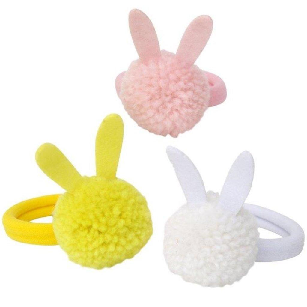 Slate Bunny Pompom Hairbands