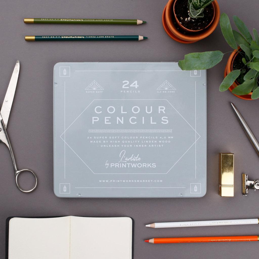 Slate Colored Pencils (Set of 24)