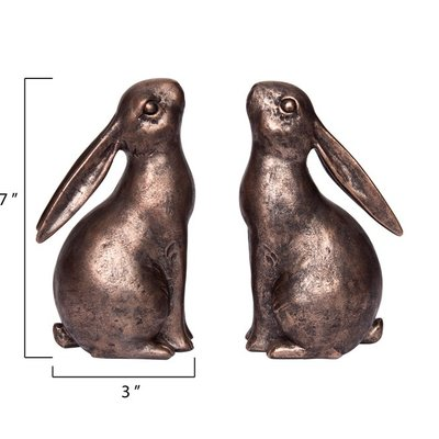 Slate Individual Resin Bunny Bookend