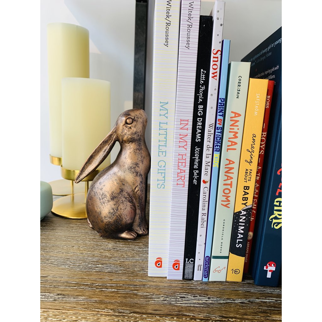 Slate Individual Resin Bunny Bookend