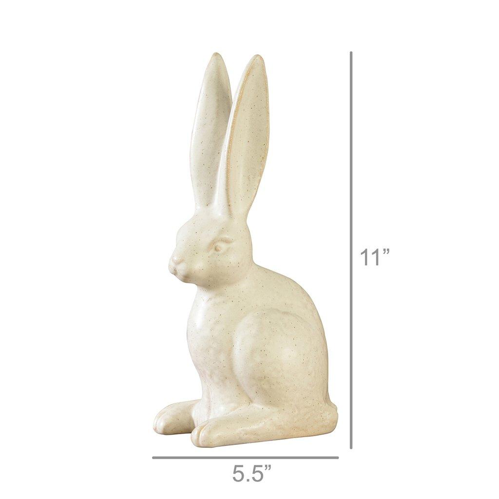 Slate Ceramic Seated Hare