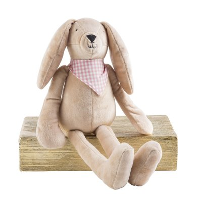 Slate Plush Bunny with Bandana