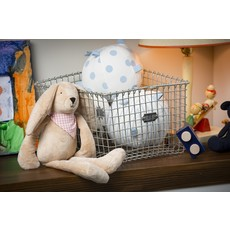 Slate Plush Bunny with Bandana