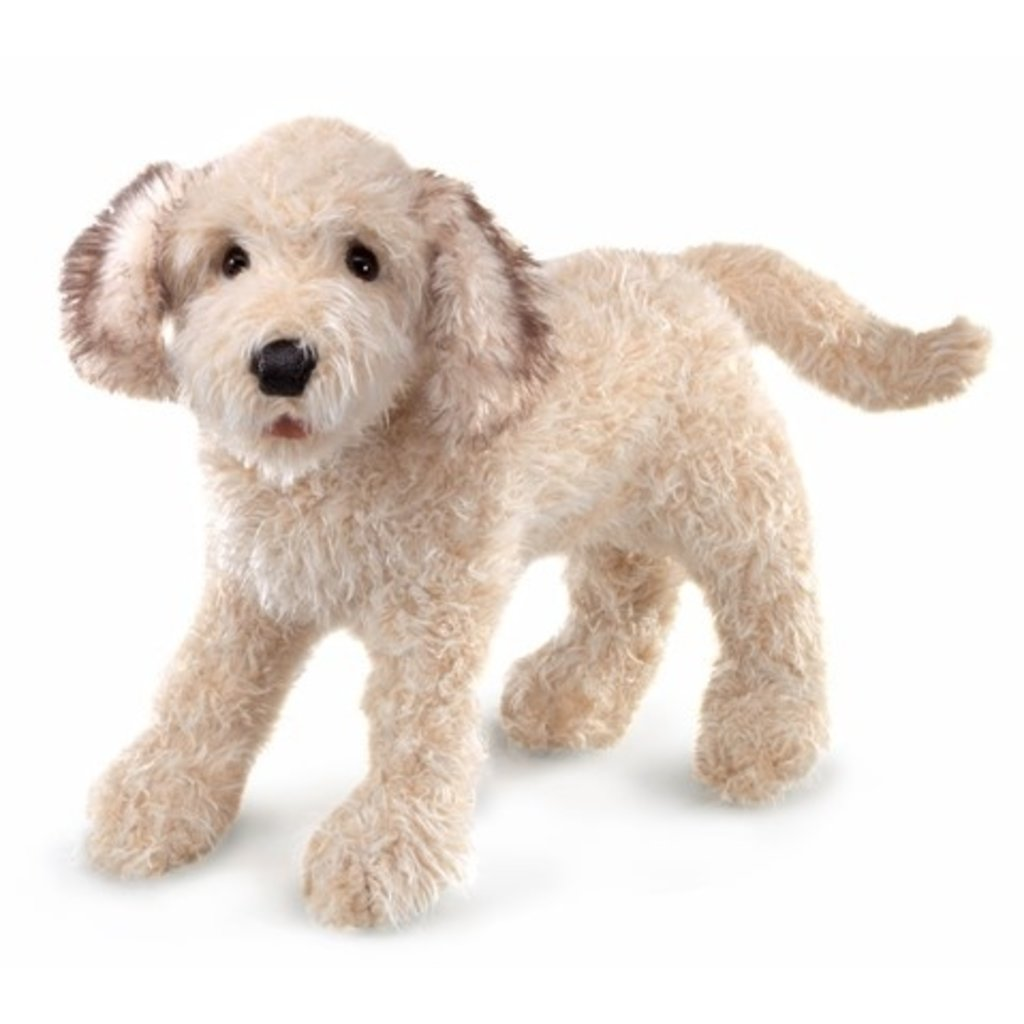 Slate Labradoodle Puppet