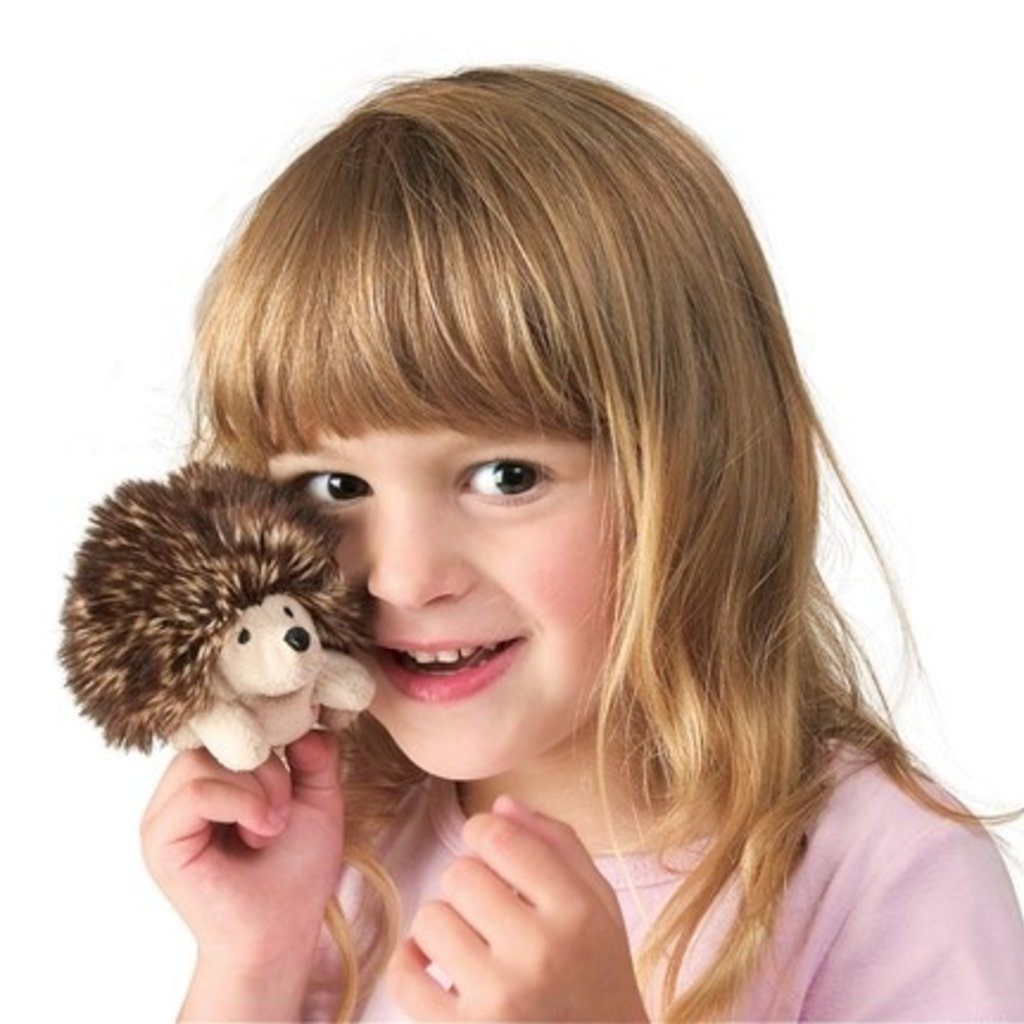 Mini Hedgehog Finger Puppet