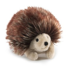 Slate Mini Hedgehog Finger Puppet
