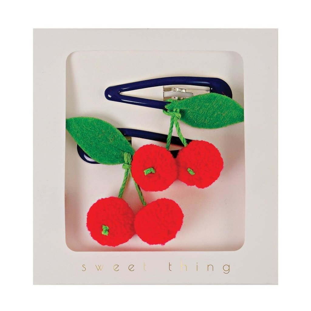 Slate Cherries Hair Clips
