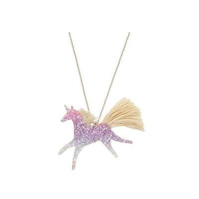 Slate Unicorn Glittered Necklace