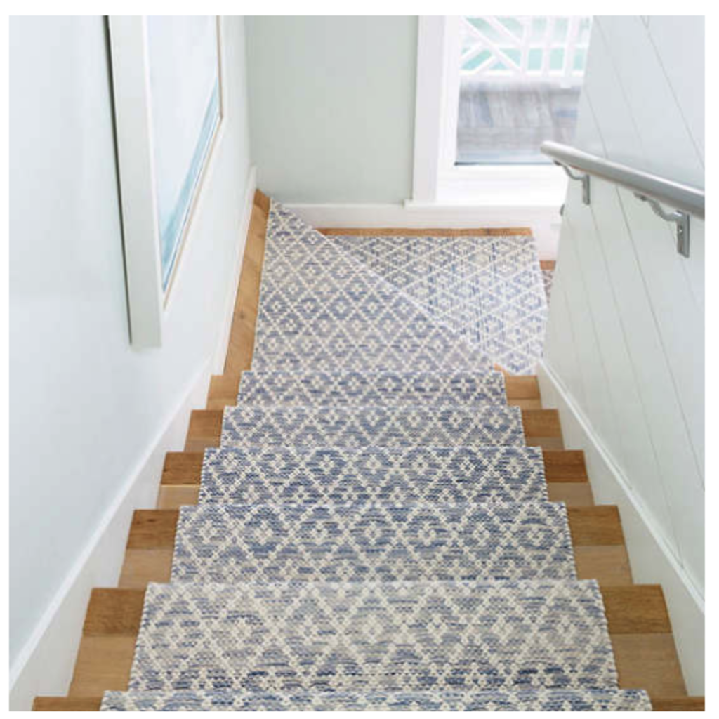 Dash & Albert Melange Diamond Blue Woven Cotton Rug