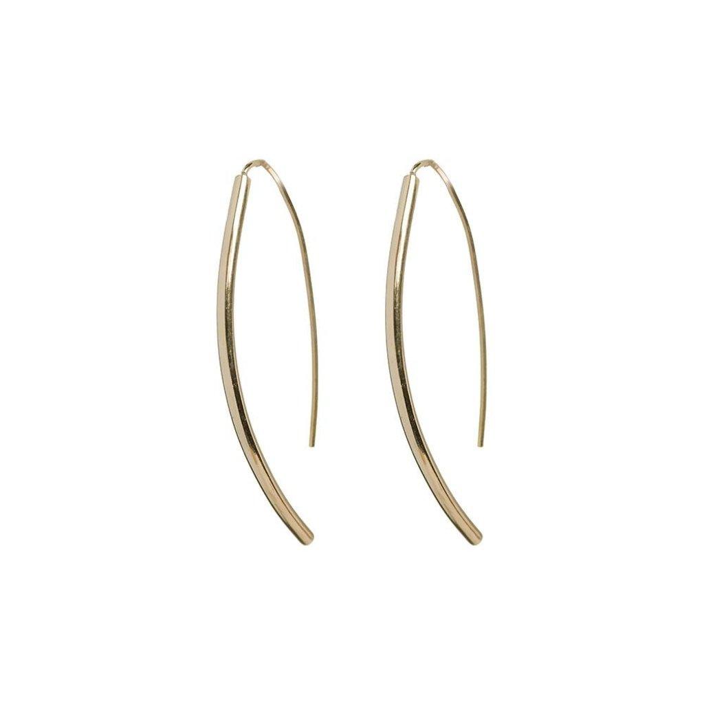 Slate Petite Bow Earrings