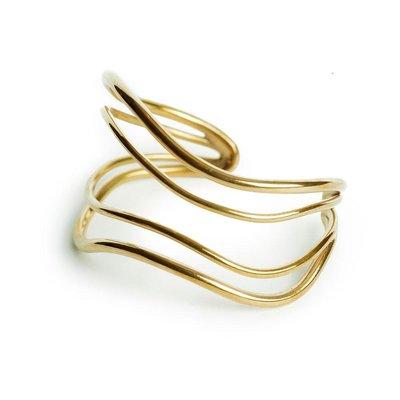 Slate Wavy Strand Cuff Bracelet