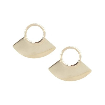Slate Petite Paddle Stud Earrings