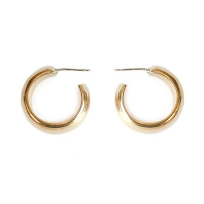 Slate Mini Bold Hoops