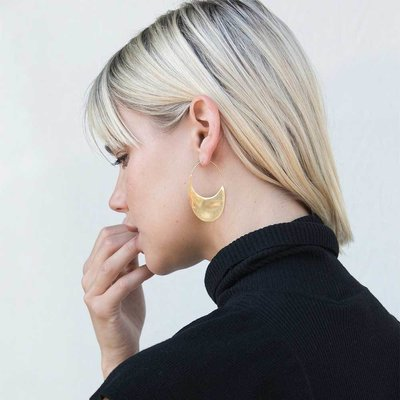 Slate Mezi Drama Threader Earrings
