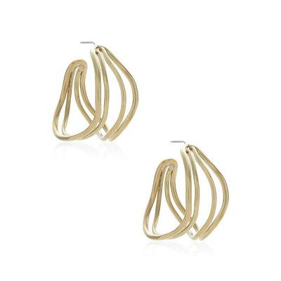 Slate Wavy Strand Hoop Earrings