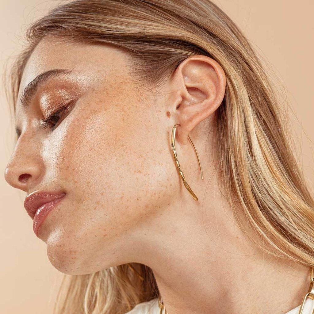 Slate Twist Bow Earrings