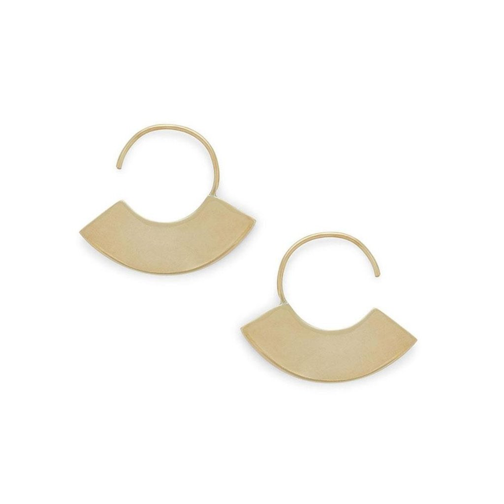 Slate Petite Paddle Threader Earrings