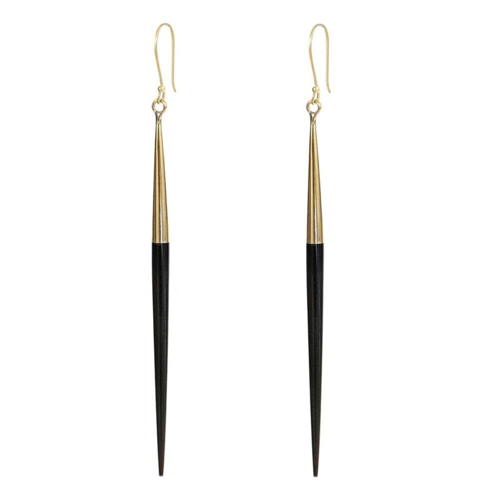 Slate Capped Quill Earrings