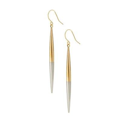 Slate Spike Earrings Two-Tone