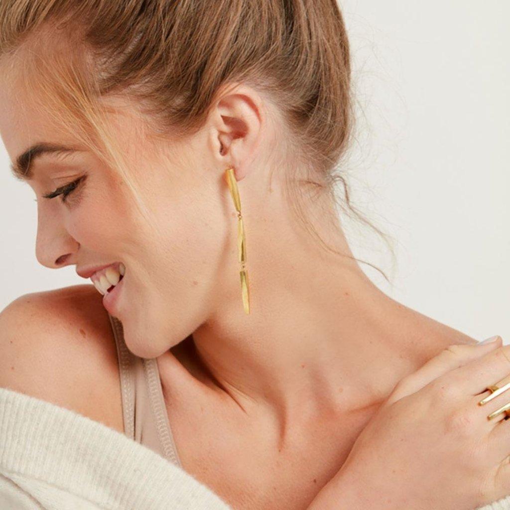 Slate Imara Twist Dangle Earrings