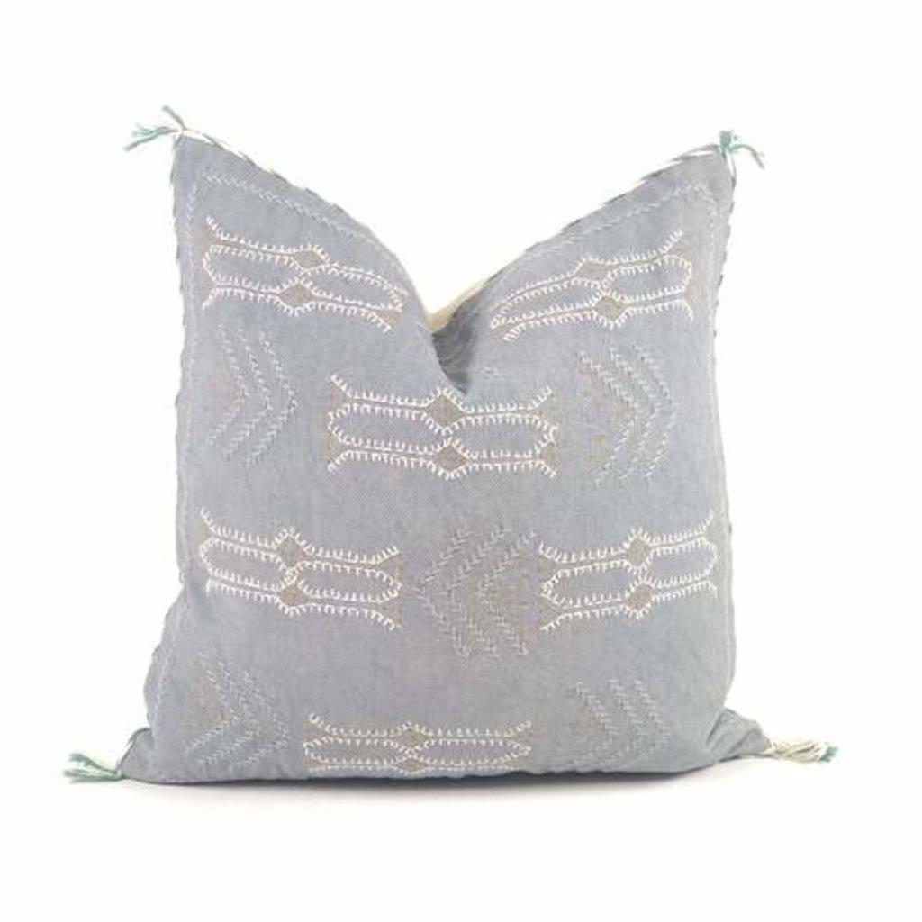 "Slate Handwoven Ramesh 20"" Pillow"