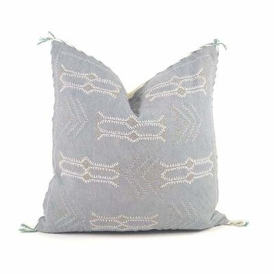 "Slate Handwoven Ramesh 20"" Pillow"