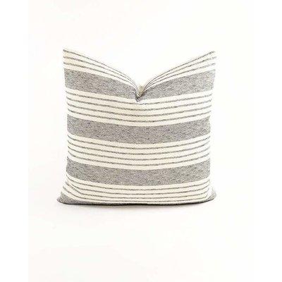 "Slate Handwoven Aroon 18"" Pillow"