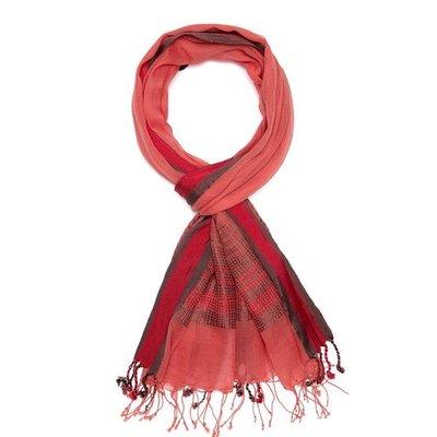 Slate Handwoven Vintage Ribbon Cotton Scarf