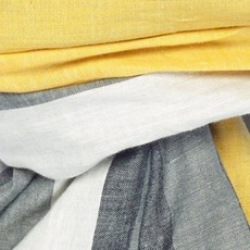 Slate Handwoven Cotton Scarf - Grey/Marigold