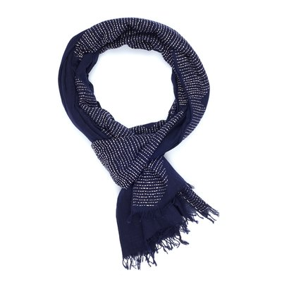 Slate Handwoven Cotton Giza Scarf