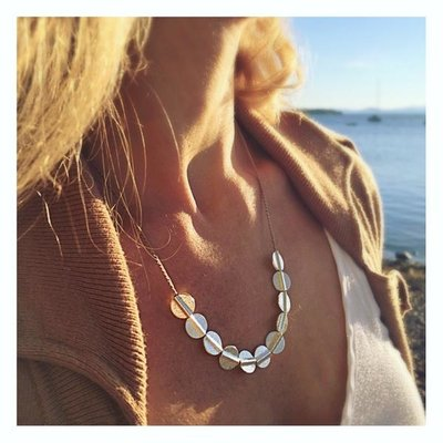 eenadee Full Moon Slider Necklace