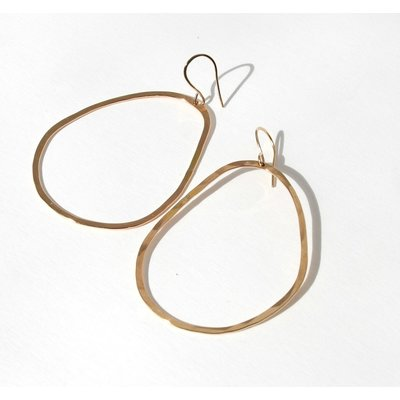Gosia Meyer Pear Hammered Earrings