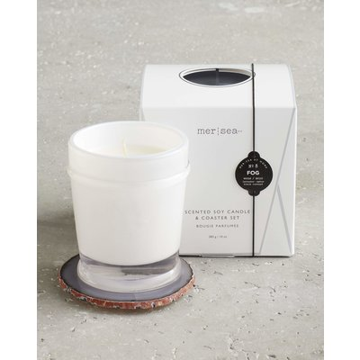 Mersea Boxed Candle with Agate Coaster