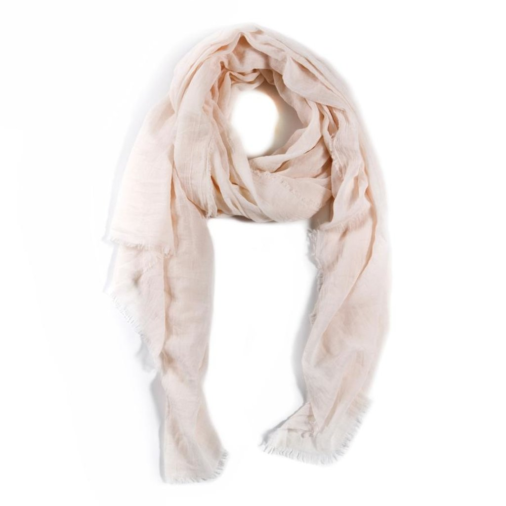 Slate Lightweight Frayed Scarf