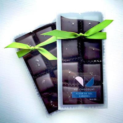 Nu Chocolat Fleur de sel Caramel - 8 pieces