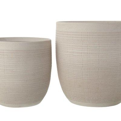 Slate Textured Stoneware Planter