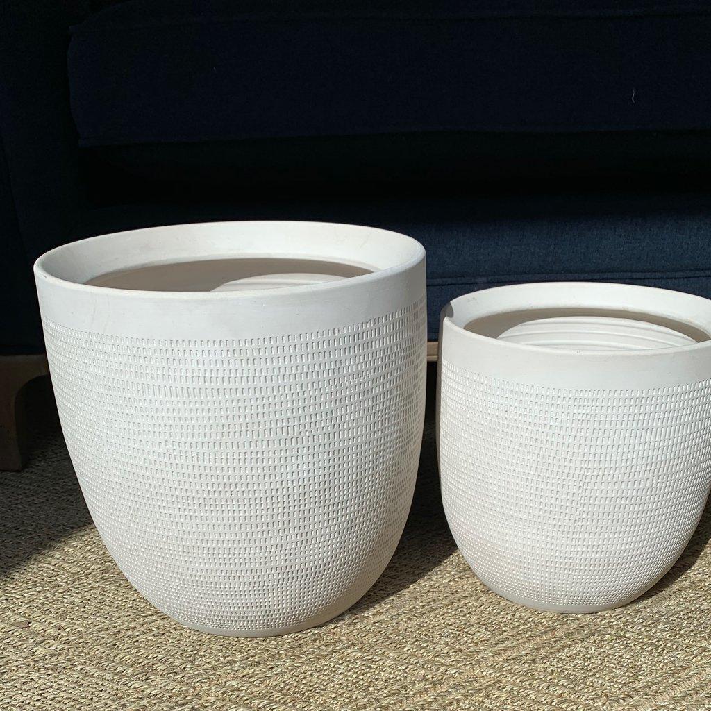 Textured Stoneware Planter