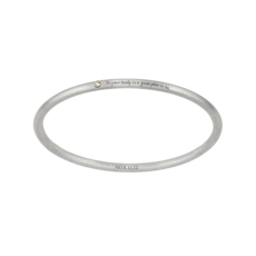 """Article 22 """"In Your Body"""" 14k Gold + Diamond Bangle"""
