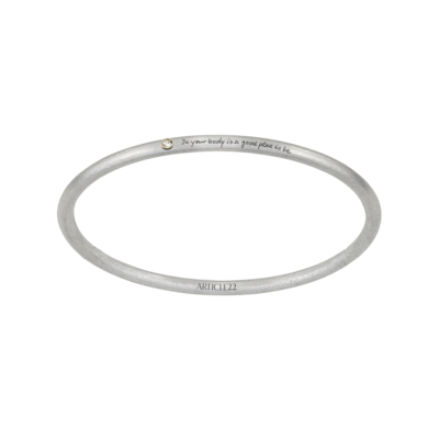"Article 22 ""In Your Body"" 14k Gold + Diamond Bangle"