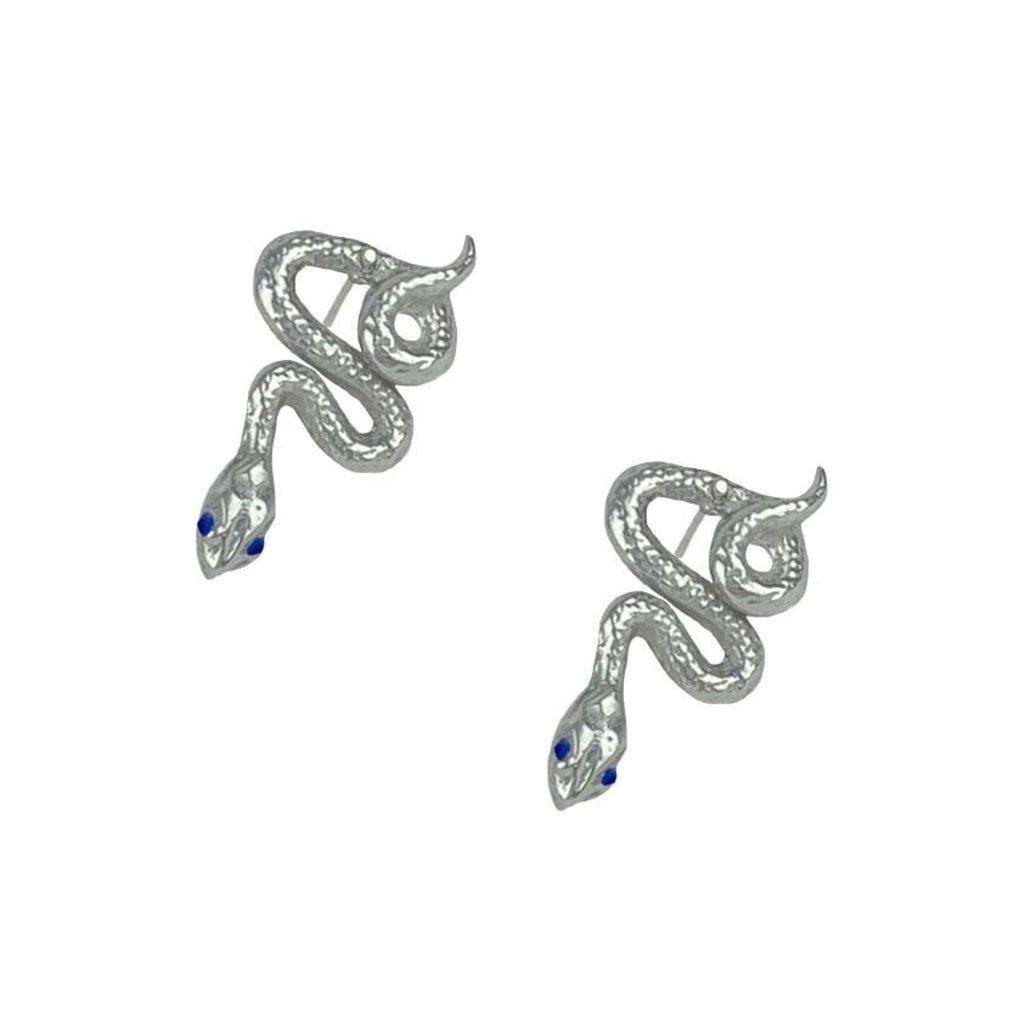 Article 22 Sapphire Snake Earrings