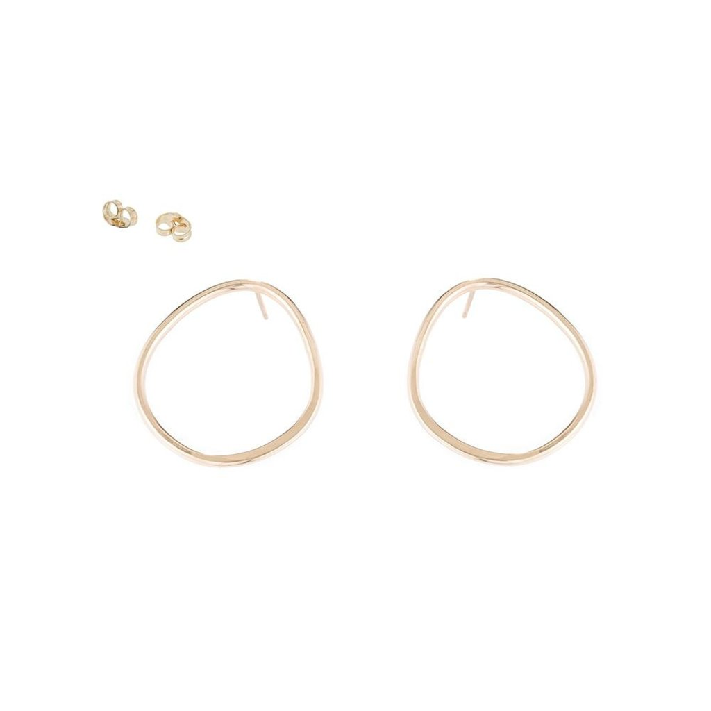 Colleen Mauer Designs Pear Stud Gold Earrings