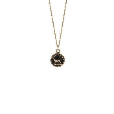 Pyrrha Faithful Friend 14k Gold Talisman Necklace