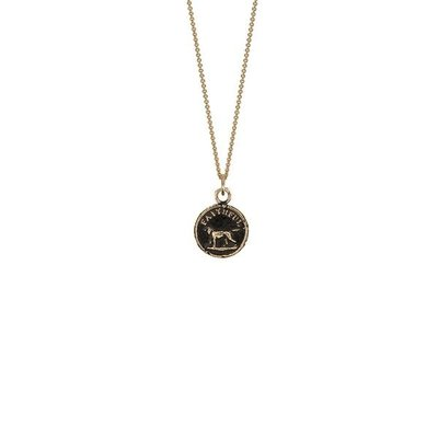 Pyrrha Faithful Friend 14k Gold Talisman Necklace