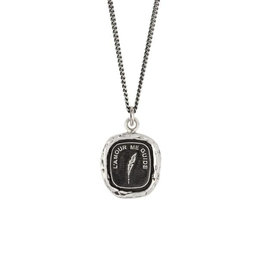 Pyrrha Love Guides Me Sterling Silver Talisman Necklace