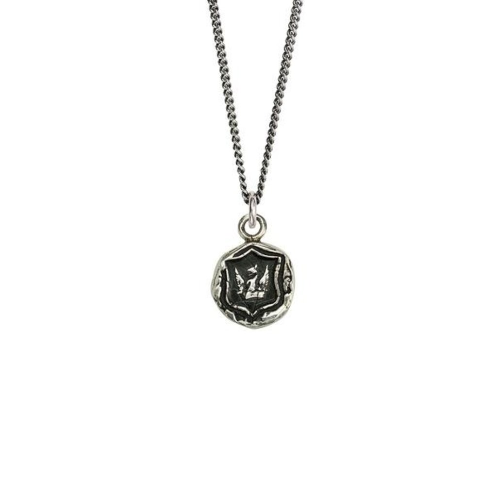 Pyrrha Bravery & Protection Sterling Silver Talisman Necklace