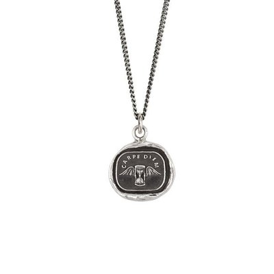 Pyrrha Carpe Diem Sterling Silver Talisman Necklace