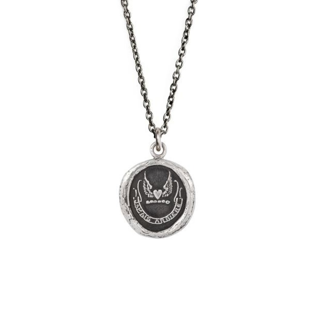 Pyrrha Never Look Back Sterling Silver Talisman Necklace