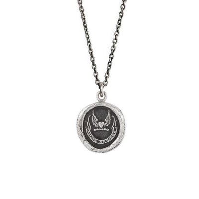 Pyrrha Never Look Back Sterling Silver Talisman Necklace