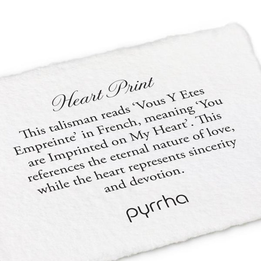 Pyrrha Heart Print Sterling Silver Talisman Necklace