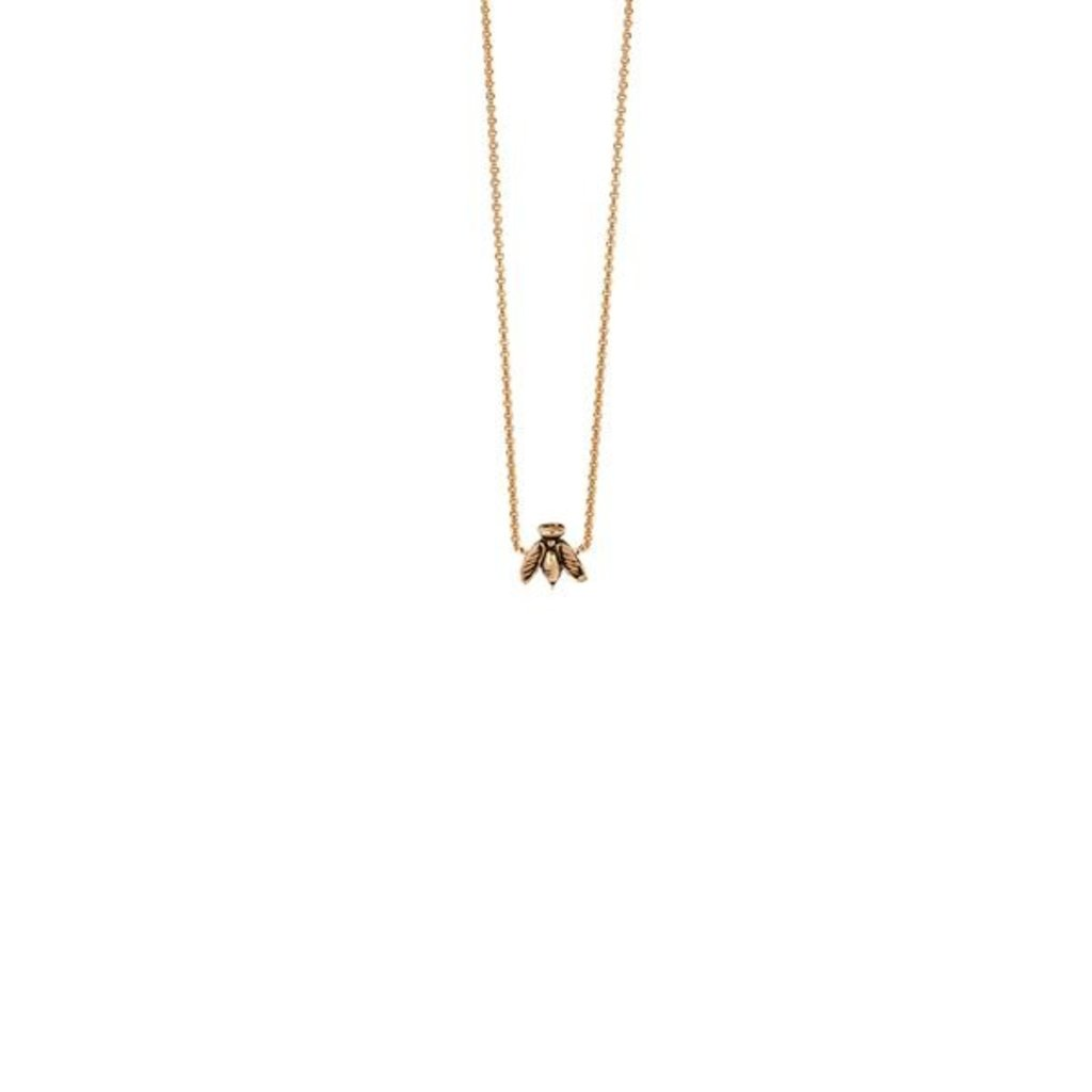 Pyrrha Bee 14k Gold Necklace